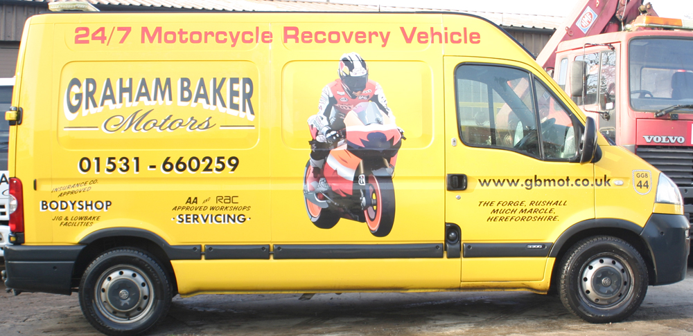 Vehicle recovery roadside assistance garage services for Baker motors used cars