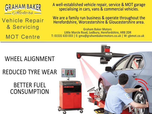 Latest 4 Wheel Alignment Graham Baker Motors Herefordshire