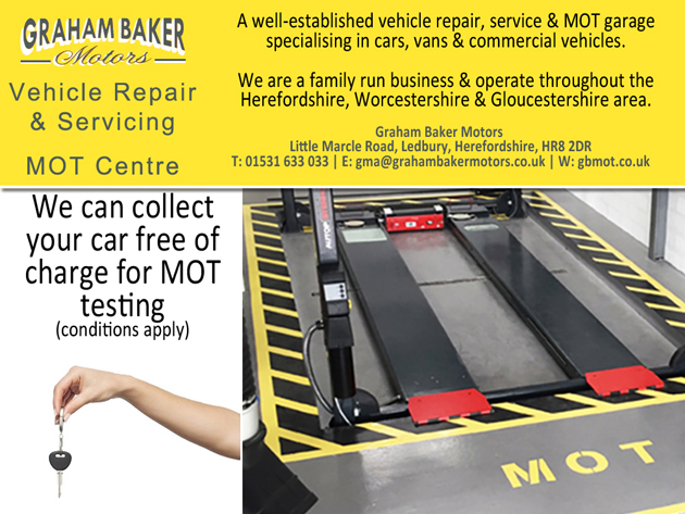 Mot Free Car Collection Service In Ledbury Herefordshire